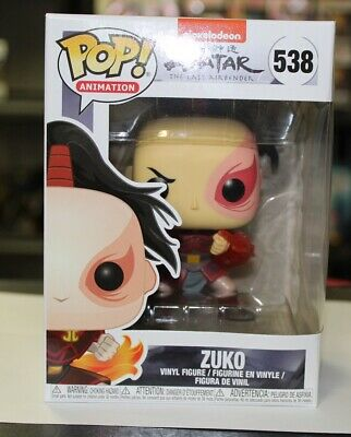 Funko Pop Avatar The Last Airbender Zuko 538 Vinyl Figure - New