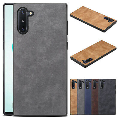 For Samsung Galaxy Note 10/Note10 Plus Retro Leather Shockproof Phone Case Cover