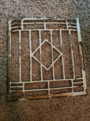 "Vintage Victorian ? Cast Iron ? Grate Ornate Heater Furnace Floor Vent 14"" x 13"""