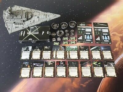 Imperial Class Star Destroyer Complete With Upgrade Cards Star Wars Armada