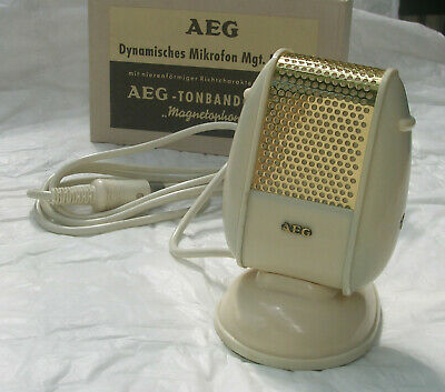 Mikrofon  AEG D11 * high-low Z * funktioniert * 1950er * TOP VINTAGE MICROPHONE