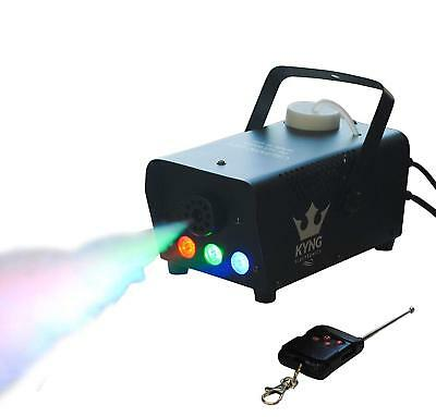 BEST FOG Smoke Haze Machine w/ wired and wireless Remote and LED Halloween Party