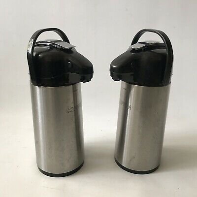 2 X Elia Coffee Pot Pump Dispenser Airpot 1.9L Commercial Use Thermal Flask