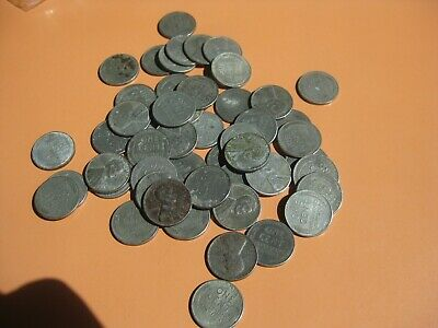 1943 PDS roll 50 coins Lincoln Steel Wheat Pennies