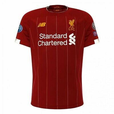Liverpool FC Home Shirt Short Sleeve 2019/2020 Season with CL Badges