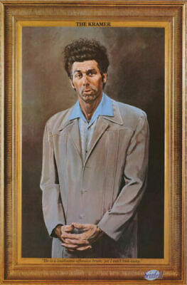 KRAMER - PAINTED PORTRAIT - SEINFELD POSTER 24x36 - WITH QUOTE 48181