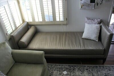old hickory tannery lounge couch platinum crocodile
