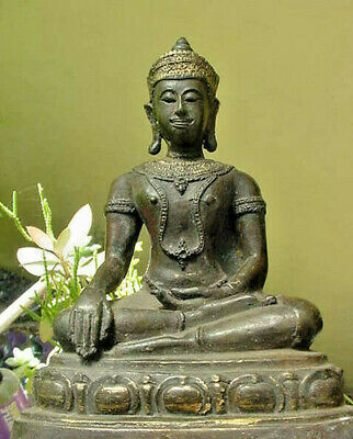 EXTREMELY GIVING LOVE MAGIC TEMPLE ALTAR BUDDHA STATUE,w,GOLD,LAMA CONSECRATION