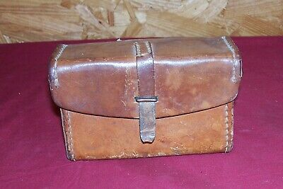 WWII BDR 4-42 Leather BAR Rifle Parts Pouch Case Ammo Belt Gun Cartridge US Army