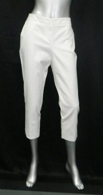 NWT Vince Camuto Womens Stretch Cotton Ankle Pants New Ivory Soft White $79 Sz 2