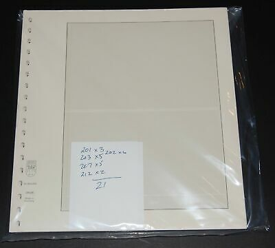 Lindner T-Blank pages various sizes 2 pocket lot of 21 gently used - clean!