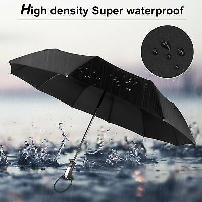 Rain Umbrella Compact Windproof Wind Vented Canopy&10 Ribs Automatic Open/Close