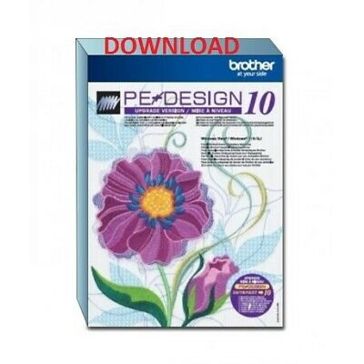 """ FAST DELIVERY "" Brother PE Design 10 Embroidery Full Software"