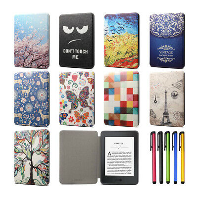 "For 6"" Kindle Paperwhite 1 2 3 4 10th Gen Pattern Smart Leather Flip Case Cover"