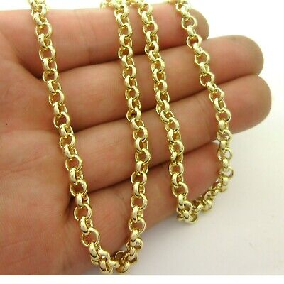 Delicate*1 meter 14K Gold Plated Brass Circle Link Rolo Chain Soldered