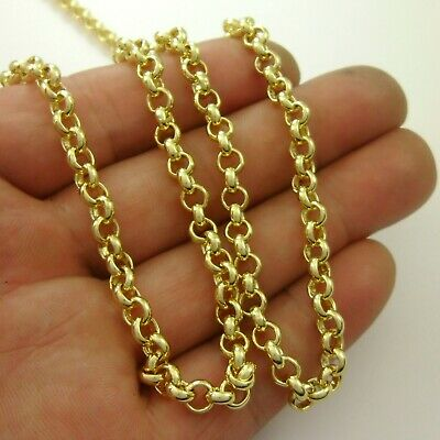 Delicate*1 meter Real 18K Gold Plated Brass Circle Link Rolo Chain Soldered