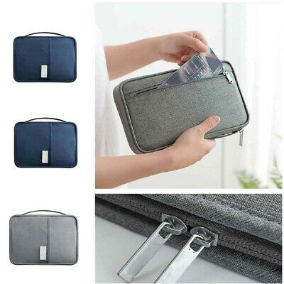 Family RFID Cards Tickets Wallet Pouch Travel Organiser Passport Document Holder