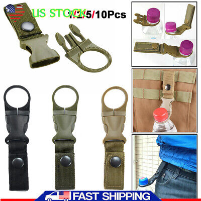 Carabiner Water Bottle Buckle Hook Holder Clip For Camping Hiking M5BD