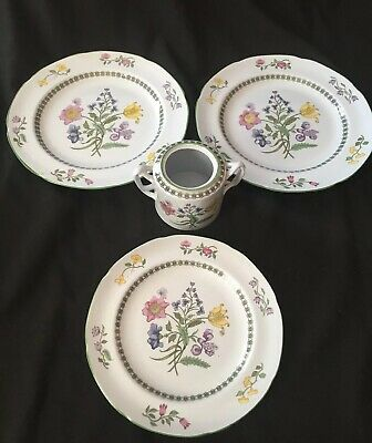 2 Dinner Plates, Luncheon Plate, Sugar Bowl (no lid)  - Spode Summer Palace