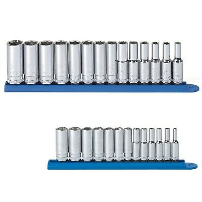 "Gearwrench 80554SPRO 3//8/"" Drive 6 Pt Met Mid-Length Socket Set w//FREE Metric Set"