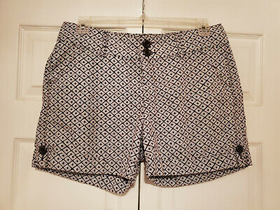 LEE One True Fit Shorts Lower on Waist Cotton Brown White Size 14M Shorts