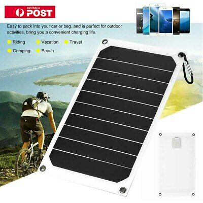 Portable 10W 5V Solar USB Charger Power Charging Panel for Samsung IPhone Tablet