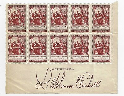 a / QUEBEC  SSJB BOURGEOYS 1942 CINDERELLA FRECHETTE SERIE PLATE BLOCK MNH