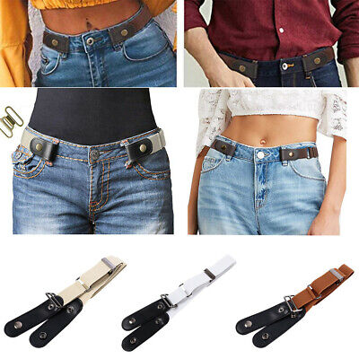 Women Buckle-free Elastic Band Invisible Waist Belt for Jeans No Bulge Hassle