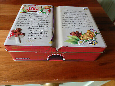 """Collectable Arnott's Large """" Tiny Teddy  Biscuit Tin. ."""" 2011. 250gms size."""