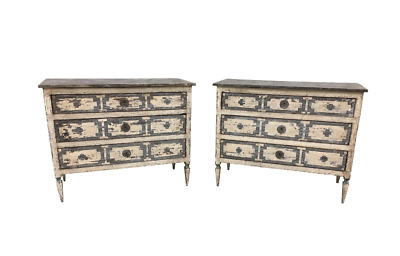 Pair of Italian Painted Chests / Commodes