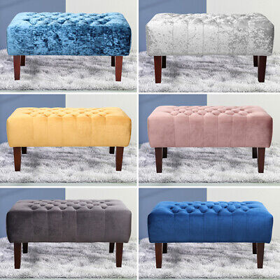 Retro Pouffe Velvet Footstool Footrest Ottoman Bench Chair Dressing Table Stool
