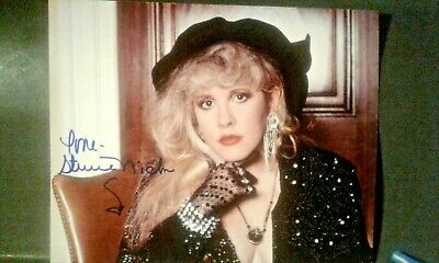 Stevie Nicks Autographed 8 X 10 Color Photo With Coa