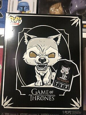 Funko POP Nymeria Hot Topic Exclusive Game of Thrones #76 POP and Large Tee