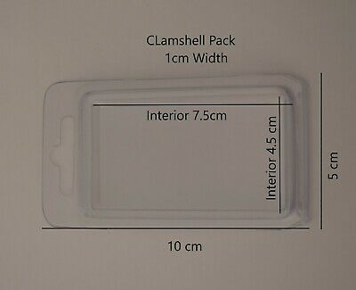 Clamshell Blister Pack Packaging Supplies pack of 50