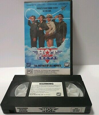 Hot Shots VHS Exclusive Dealer Preview Movie Video Tape Ex Rental Charlie Sheen