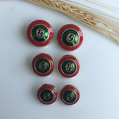 Gucci Buttons 6 pcs, Big - 21 mm, Middle - 17 mm, Small -15 mm