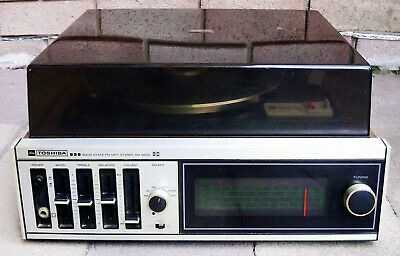 Vintage Toshiba SM-350D Stereo Record Player with Sony Speakers