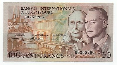 Luxembourg 100 Francs 1981 Pick 14 A Xf+