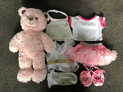 Build A Bear Pink Bear with Clothes