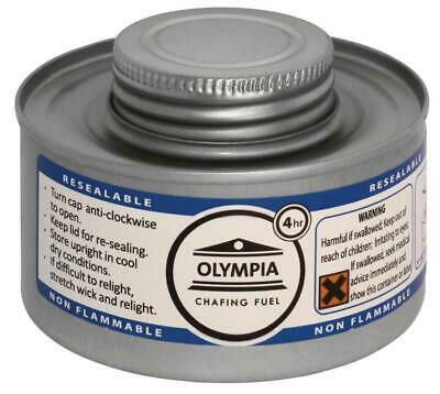 Olympia CB734 Chafing Liquid Fuel, 4 hour, Silver (Pack of 12)
