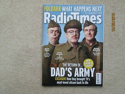 RADIO TIMES MAGAZINE, August 10 to 16, Return of Dad's Army,Excellent Condition