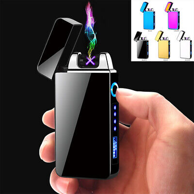 Electric Lighter Touch USB Rechargeable Dual Arc Flameless Plasma Windproof Gift