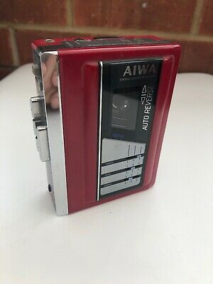 AIWA Walkman HS G-35MK II 2 : Tested Working : Red : Excellent Rare