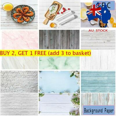 Double-sided Wood Grain Photography Backdrop Paper Background Photo Props