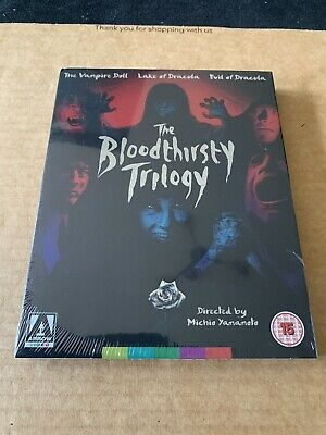 The Bloodthirsty Trilogy BLU-RAY NEW & SEALED With Slipcase Arrow Video