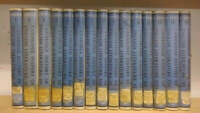 The Cambridge History of English Literature: complete 15 volumes