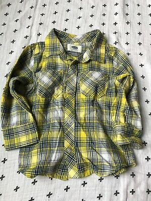 Old Navy 18/24 Month Fall Toddler Boy Plaid Shirt, Button Up
