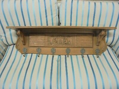 Wooden Carved Coat Rack And Shelf French