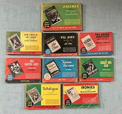 WW II Armed Services Edition Paperback Books LOT 9 ~ 1930s and 40s