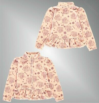 Girls Character Full Zip Long Sleeve Frill Fleece Top Sizes Age from 2 to 12 Yrs